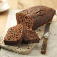 Bizcocho de chocolate con margarina para niños