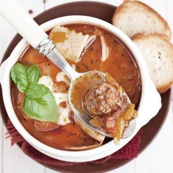 Sopa de lasaña