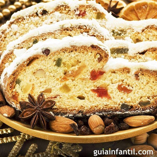 Stollen Navideño. Pan dulce alemán para la Navidad