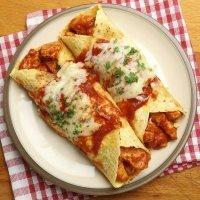 Enchiladas de pollo. Receta mexicana