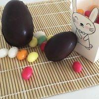 Huevos de Pascua de chocolate paso a paso