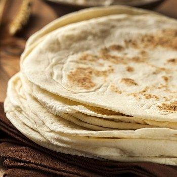 Tortillas de masa para wraps