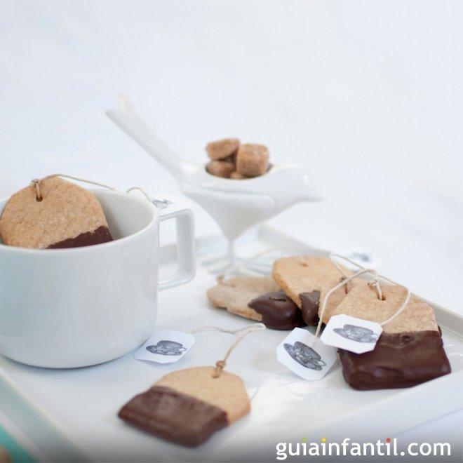Receta de galletas con forma de bolsita de té