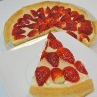 Tarta de fresas fácil y rápida
