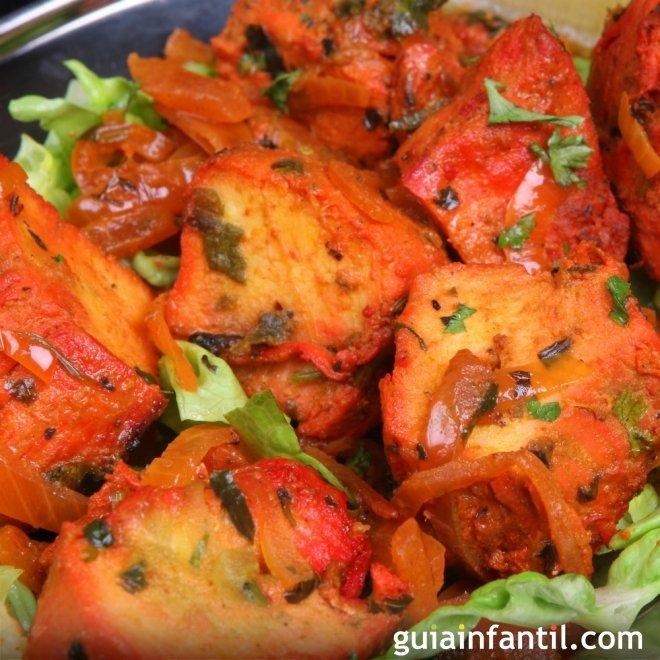 Pollo tandoori. Recetas indias tradicionales