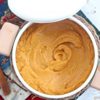 Crema de castañas y boniatos