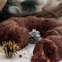 Pudding de coco y chocolate sin azúcar. Receta de postre navideño