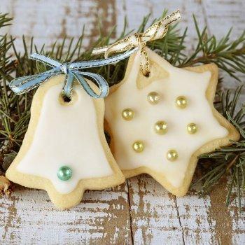 Galletas de Navidad con chocolate blanco