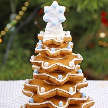 Arbolito navideño de galletas