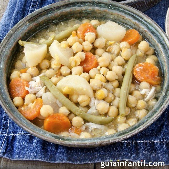 Cocido de verduras en olla exprés. Receta ligera