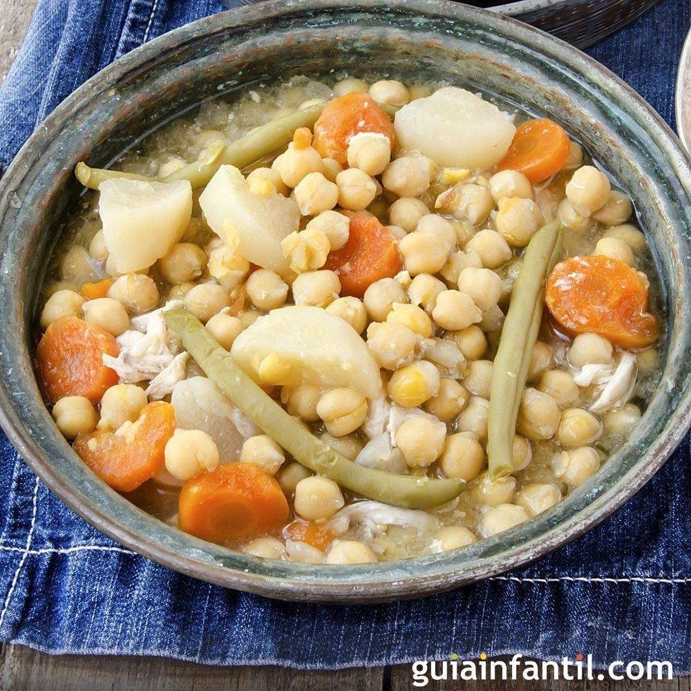 Cocido de verduras en olla expr s receta ligera - Cocido de garbanzos en olla express ...