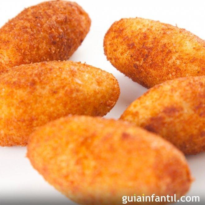Croquetas de jamón sin gluten, para niños celíacos