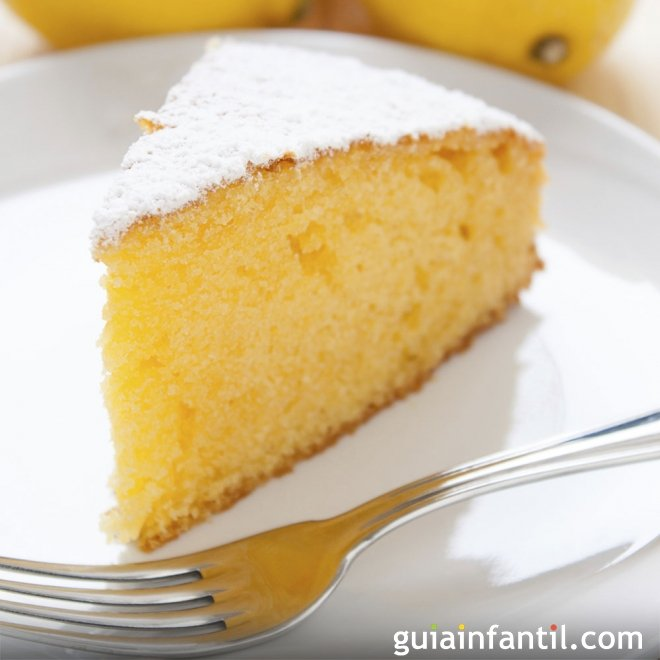 Bizcocho de limón sin gluten, para cocinar con niños