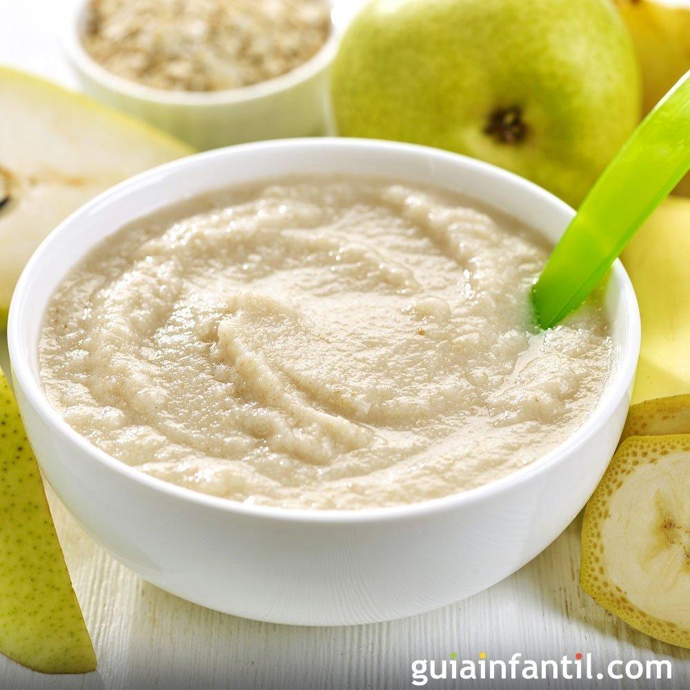 Papilla de mandarina pl tano y pera - Pure de castanas y manzana ...