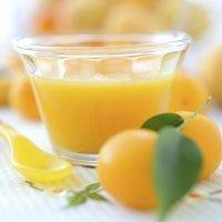 Papilla de ciruela, pera y naranja