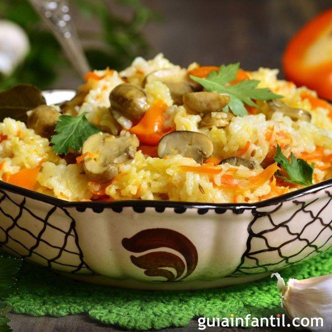 Arroz con verduras, sano y rápido