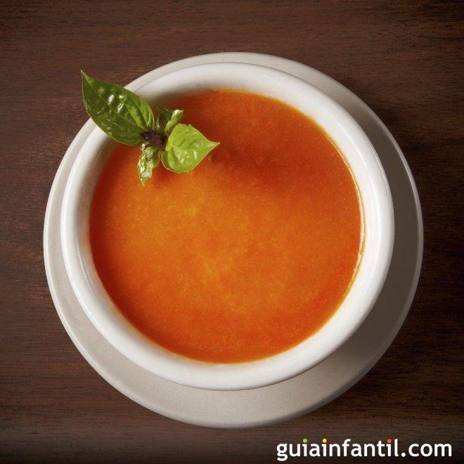 Sopa de tomates asados y tomates cherry