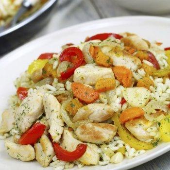 Arroz con verdura y pollo