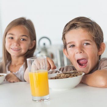 Menú de recetas para el desayuno de los niños