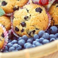 Muffins o magdalenas de arándanos. Para la merienda de los niños