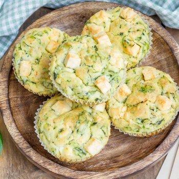Muffins cuatro quesos