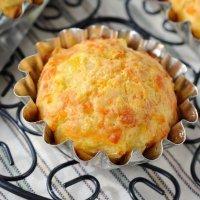 Muffins de calabaza rellenos de queso para la merienda
