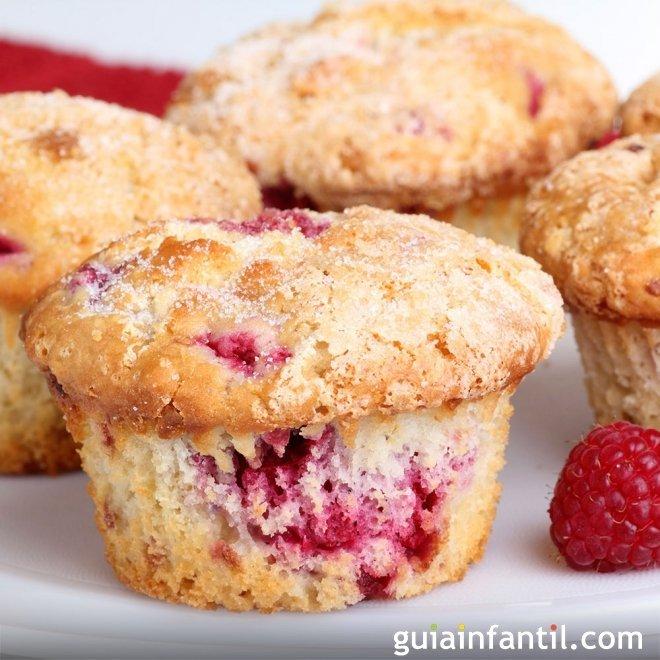 Muffins de frambuesa y vainilla, receta paso a paso