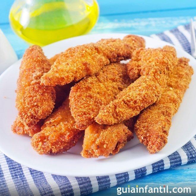 Nuggets de pollo al horno y sin gluten, receta fácil