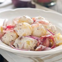 Ensalada fresca de patata, para el picnic de los niños