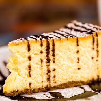 Tarta de queso con café