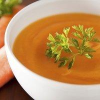 Crema de zanahoria y jengibre baja en grasa para niños