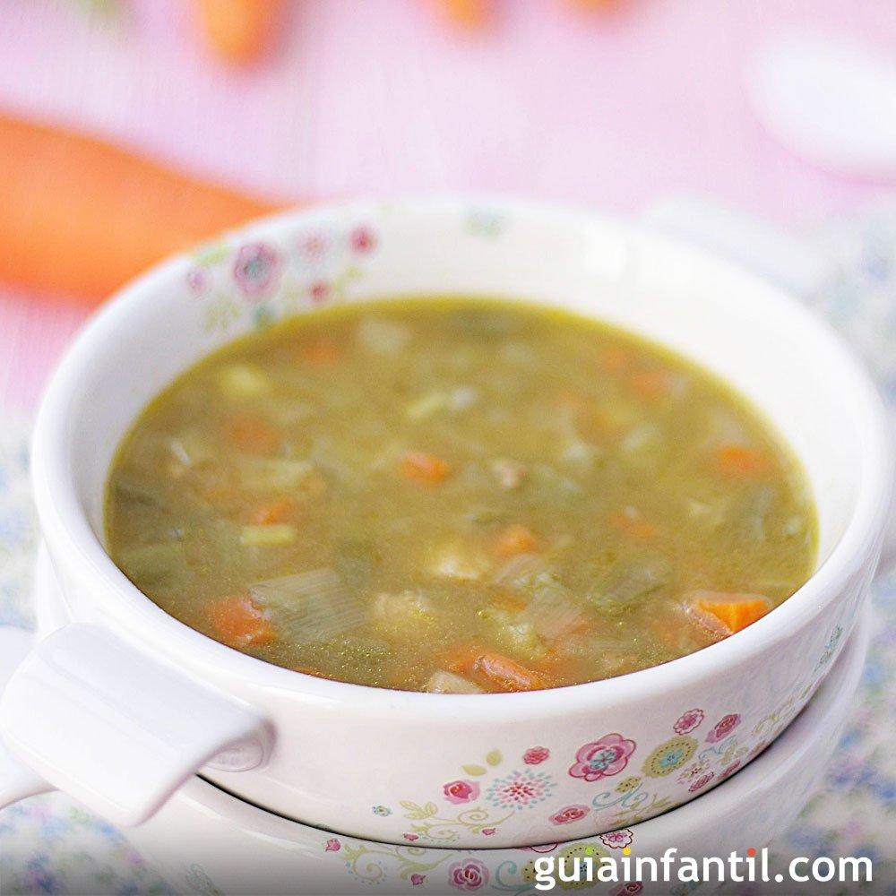 Sopa de verduras y pollo para la cena de los ni os for Comidas rapidas para ninos