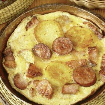 Tortilla de patatas y chorizo