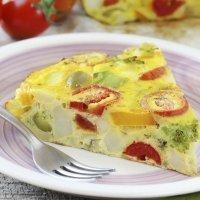 Tortilla de vegetales. Receta fácil y saludable para los niños
