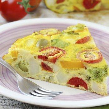 Tortilla de vegetales o verduras