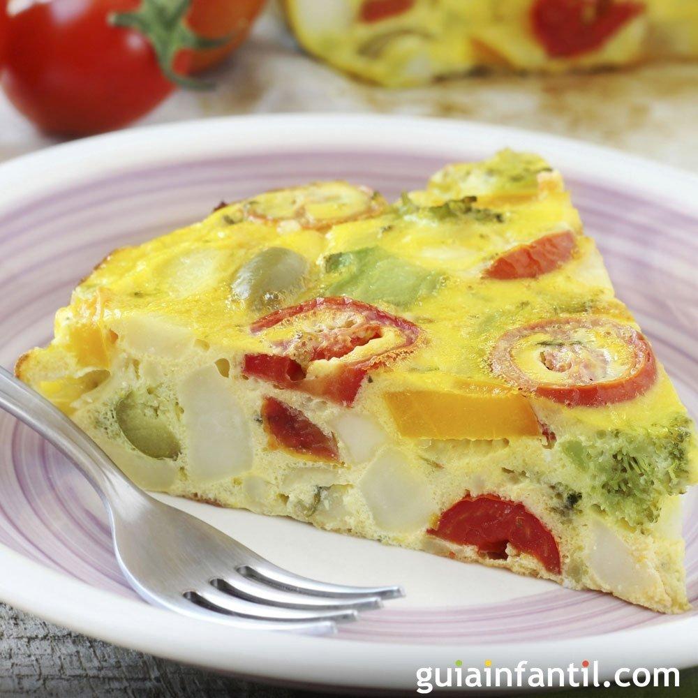 Tortilla de vegetales receta f cil y saludable para los ni os - Cocina facil para ninos ...