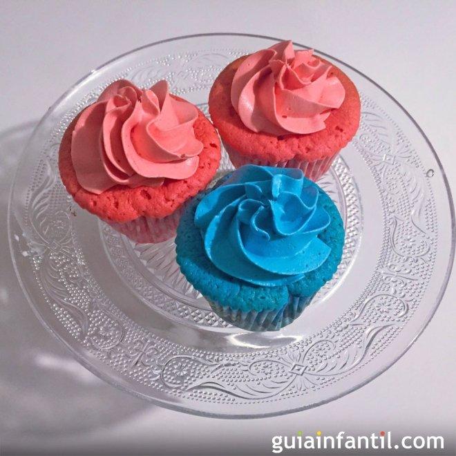 Cupcakes de colores para una fiesta infantil