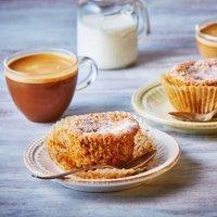 Recetas para niños con soya o soja. Muffins de zanahoria y manzana