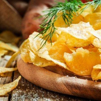 Patatas fritas de bolsa caseras