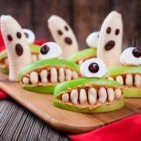 Fantasmas y bocas de Halloween