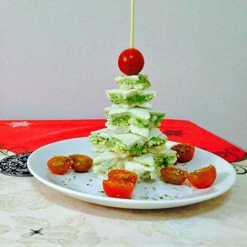 Árbol de Navidad con pan de molde