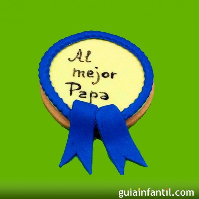 Receta para el Día del Padre. Galleta con forma de medalla