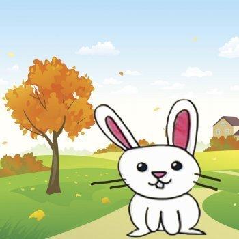 Cómo dibujar un conejo. Dibujos infantiles de animales