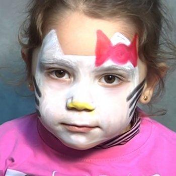Maquillaje de fantasía de Hello Kitty