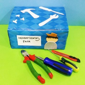 Caja de herramientas casera para regalar a papá