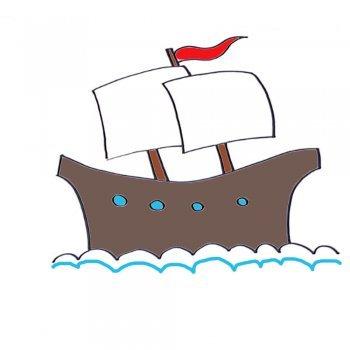 Cómo dibujar un buque de vela. Dibujos de barcos para niños