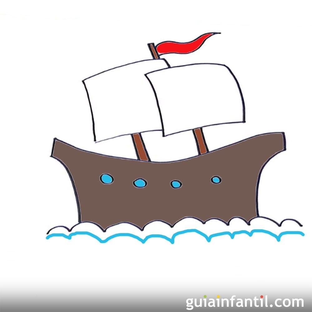 C mo dibujar un buque de vela dibujos de barcos para ni os - Dibujos infantiles de bebes ...