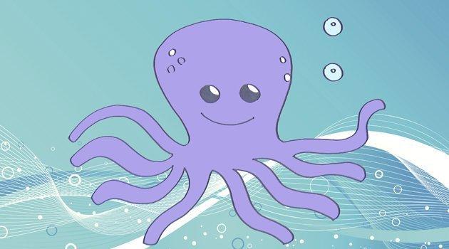 Dibujos para niños de animales marinos. Cómo dibujar un pulpo