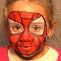 Maquillaje de fantasía de Spiderman