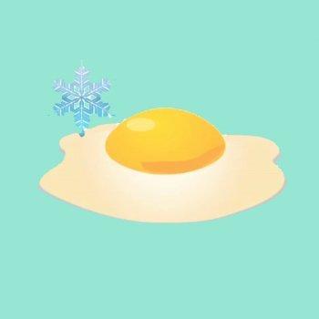 Cómo freír un huevo en frío